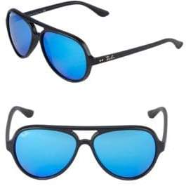 Ray-Ban 59MM Cats 5000 Mirrored Sunglasses