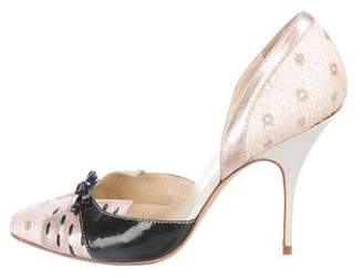 Nina Ricci Metallic d'Orsay Pumps