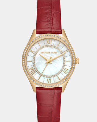 Michael Kors Lauryn Red Analogue Watch