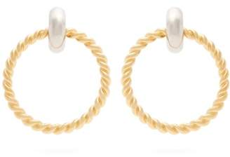 Balenciaga Twisted Hoop Earrings - Womens - Gold
