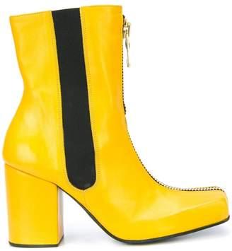 Charles Jeffrey Loverboy front-zip heel boots