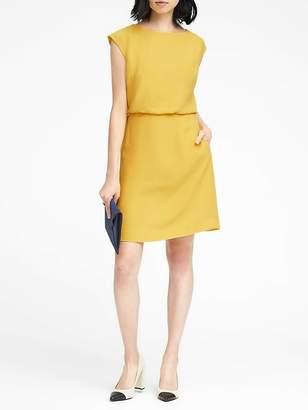 Banana Republic Petite Drape Back Dress