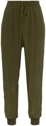 Haider Ackermann velvet stripe track trousers