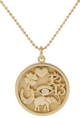 Jennifer Meyer Women's Good Luck Charm Pendant Necklace - Gold