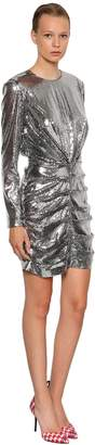 MSGM P.m. Sequined Mini Dress