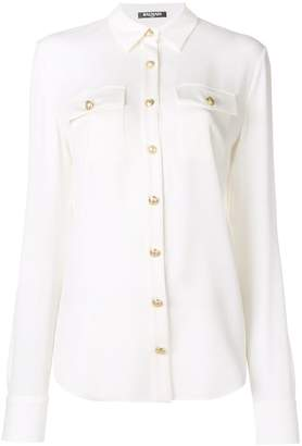Balmain decorative button shirt