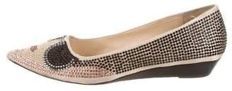 Alice + Olivia Embellished Pointed-Toe Flats