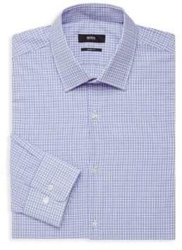 HUGO BOSS Plaid Long-Sleeve Dress Shirt
