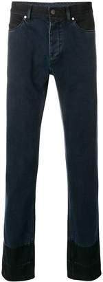 Lanvin two tone slim fit jeans