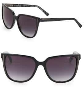 Ted Baker 57mm Tortoise Shell Square Gradient Sunglasses