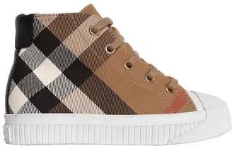 Burberry Classic Check Cotton Gabardine Sneakers