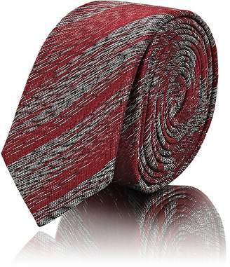 Saint Laurent Men's Metallic-Striped Silk Necktie