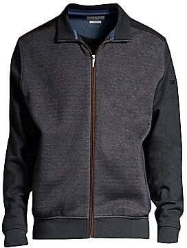Bugatti Men's Regular-Fit Full Zip Knit Bomber