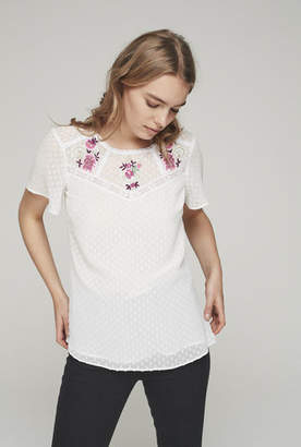 Pretty Embroidered Dobby Top
