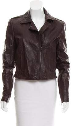 Theory Structured Leather Jacket