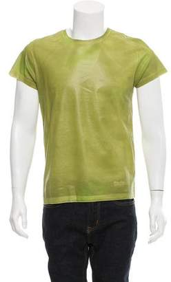 Calvin Klein Collection Coated Crew Neck T-Shirt