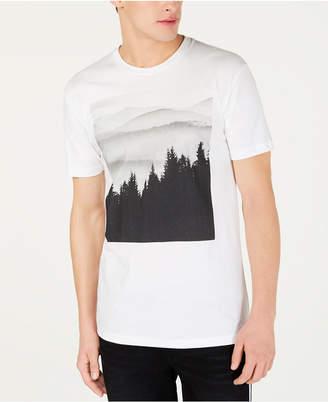 American Rag Men Tree Line Graphic T-Shirt
