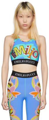 Emilio Pucci Blue Graphic Bra