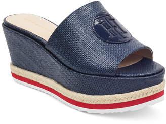 Tommy Hilfiger Batist Platform Espadrille Wedge Sandals Women's Shoes