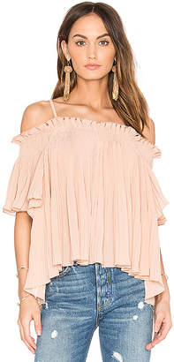 Endless Rose Off the Shoulder Top in Blush $70 thestylecure.com