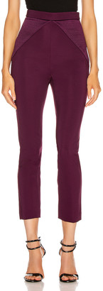 Cushnie High Waisted Fitted Cropped Pant in Plum | FWRD