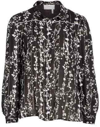BA&SH Fiona Metallic Accent Floral Top