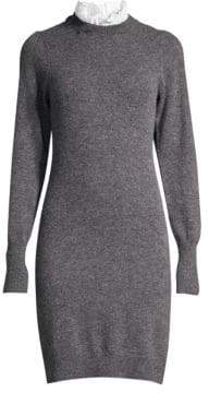 Sandro Ruffle Collar Sweater Dress