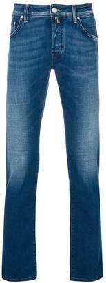 Jacob Cohen slim-fit jeans with pocket square