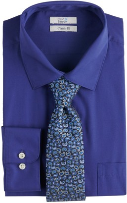 Croft & Barrow Men's Regular-Fit Stretch-Collar Dress Shirt and Patterned Tie Boxed Set