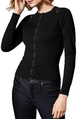 Karen Millen Lace-Inset Cardigan