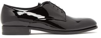 Giorgio Armani Vernice Patent Leather Derby Shoes - Mens - Black