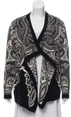Etro Wool Pattern Cardigan Black Wool Pattern Cardigan