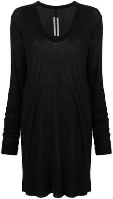 Rick Owens oversized long-sleeve sweatshirt