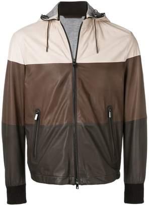 Ermenegildo Zegna hooded leather jacket