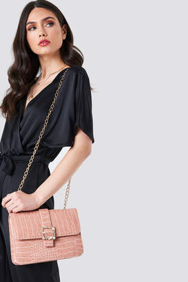 Trendyol Snakeprint Buckle Shoulder Bag