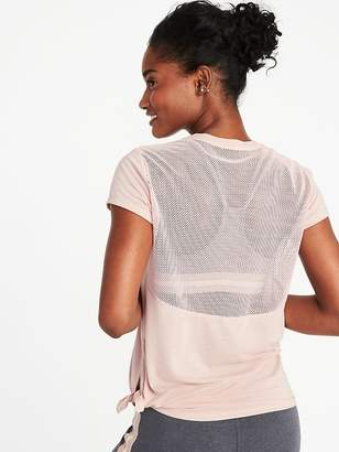 Old Navy Mesh-Back Side-Tie Performance Top for Women