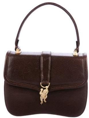 Kieselstein-Cord Leather Handle Bag