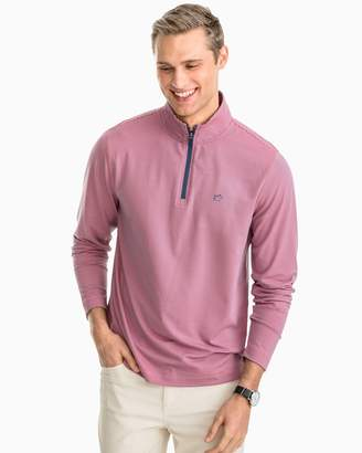 Southern Tide Headway Stripe Performance 1/4 Zip Pullover