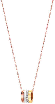 Boucheron Quatre Mini Ring Pendant Necklace with White Diamonds