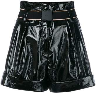 No.21 high-waisted wide shorts