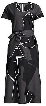 Lafayette 148 New York Women's Cosimia Portrait Print Dress