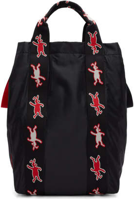 Marni Dance Bunny Black Bunny Shopping Tote
