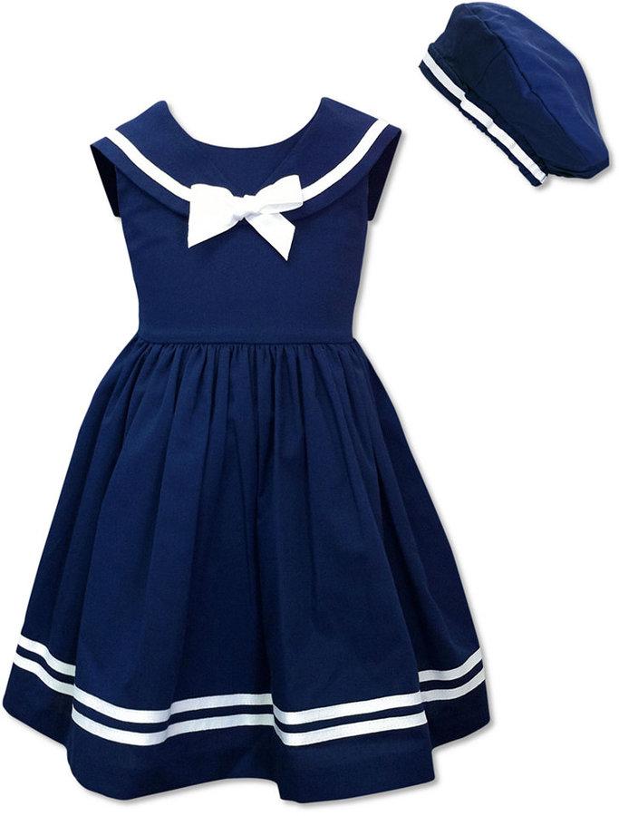Jayne Copeland Kids Dress, Little Girls Sailor Dress and Beret
