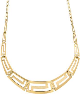 FINE JEWELRY Infinite Gold 14K Yellow Gold Graduated Greek Key Necklace