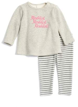 Nordstrom Fleece Tunic & Leggings Set (Baby Girls)