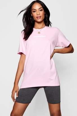 boohoo Tall Wanderlust Slogan T-Shirt
