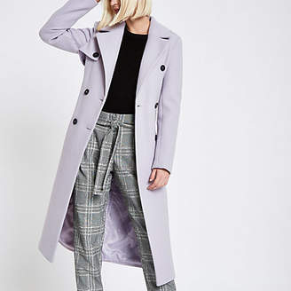 River Island Light purple belted trench coat