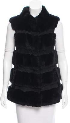 Diane von Furstenberg Fur & Leather-Trimmed Vest