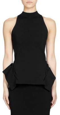 Roland Mouret Barmston High-Neck Peplum Top
