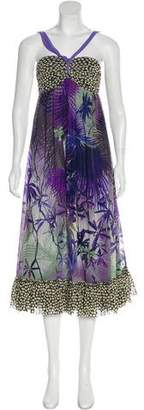 Jean Paul Gaultier Printed Maxi Dress